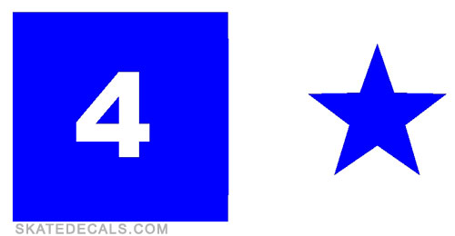 2 Fourstar Logo Stickers Decals - Click Image to Close