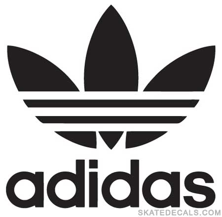 2 adidas stickers decals