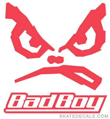 2 Bad Boy Stickers Decals
