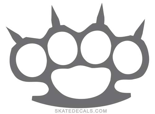 2 Brass Knuckles with Spikes Stickers Decals - Click Image to Close