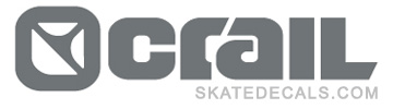 2 Crail Skateboarding Trucks Stickers Decals