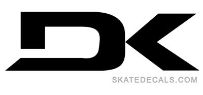 2 Dakine DK Logo Stickers Decals - Click Image to Close