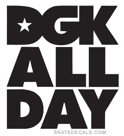 2 DGK All Day Skateboards Stickers Decals