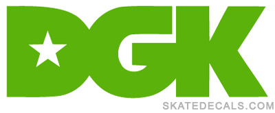 2 DGK Skateboards Stickers Decals