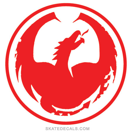2 Dragon Alliance Circle Stickers Decals