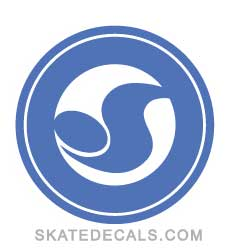 2 DVS Shoes Circle Logo Stickers Decals - Click Image to Close