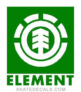2 Element Square Stickers Decals