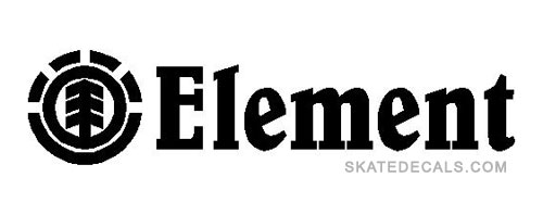 2 Element Logo Stickers Decals