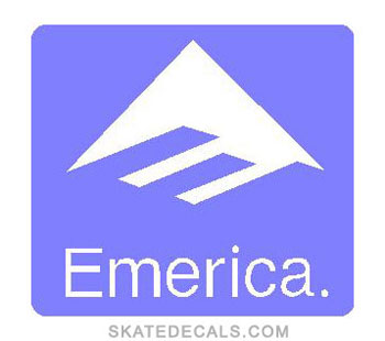2 Emerica Square Stickers Decals