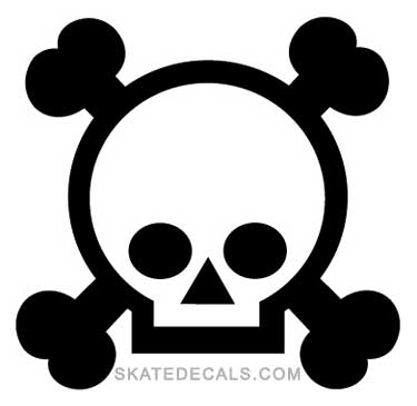 2 Grenade Gloves Skull & Crossbones Stickers Decals