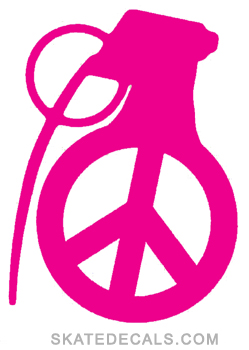 2 Grenade Gloves Peace Stickers Decals