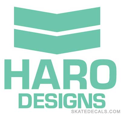 2 Haro Bikes Stickers Decals