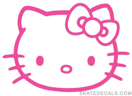 2 Hello Kitty Stickers Decals