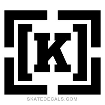2 Kr3w Skateboards Square Stickers Decals