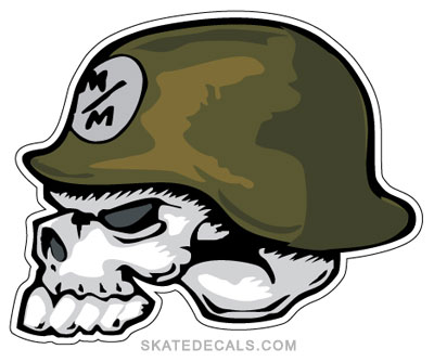 2 Metal Mulisha Skull Helmet Stickers Decals