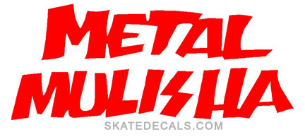 2 Metal Mulisha Logo Stickers Decals