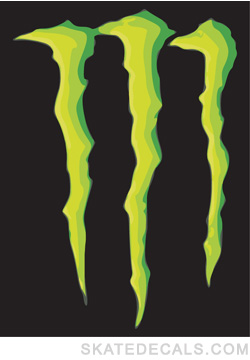 2 Monster Energy Logo Stickers Decals - Click Image to Close