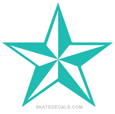 2 Nautical Star Logo Stickers Decals