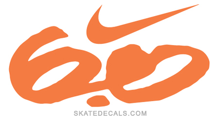 2 Nike Swoosh 60 Stickers Decals