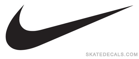 2 Nike Swoosh Stickers Decals