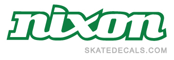 2 Nixon Skateboards Stickers Decals