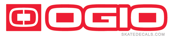 2 OGIO Circle Word Logo Sticker Decals