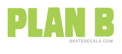 2 Plan B Skateboarding Stickers Decals - Click Image to Close
