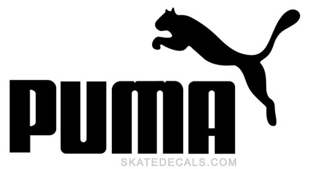 2 Puma Stickers Decals - Click Image to Close