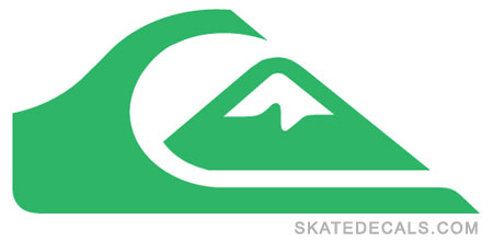 2 Quiksilver Logo Stickers Decals