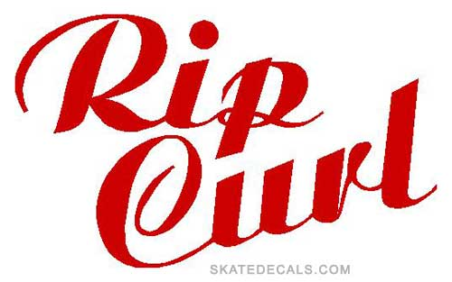 2 Rip Curl Script Stickers Decals