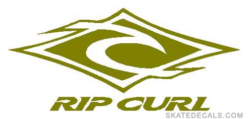 2 Rip Curl Diamond Stickers Decals
