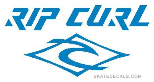 2 Rip Curl Logo Stickers Decals - Click Image to Close