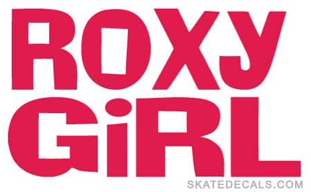 2 Roxy Girl Clothing Stickers Decals