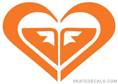 2 Roxy Heart Clothing Stickers Decals - Click Image to Close