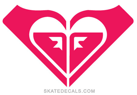 2 Roxy Clothing Stickers Decals - Click Image to Close