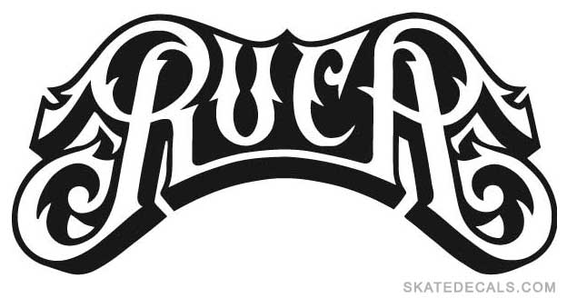 2 RVCA Skateboarding Stickers Decals