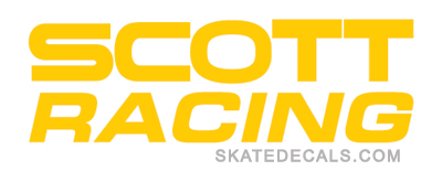 2 Scott Racing Logo Stickers Decals - Click Image to Close
