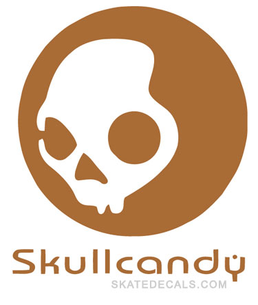 2 SkullCandy Headphones Logo Sticker Decals