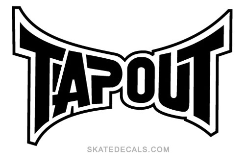 2 Tapout MMA Logo Stickers Decals