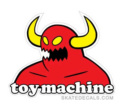 2 Toy Machine Stickers Decals - Click Image to Close