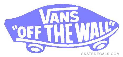 2 Vans Off the Wall Stickers Decals - Click Image to Close